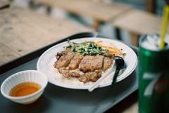 Cơm tấm (eekiem) Tags: vietnam saigon ho chi minh city food local travel asia olympus om10 film