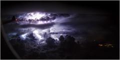 Lightning over Jakarta (beninfreo) Tags: lightning storm cell thunder plane airplane window canon 5d3 indonesia jakarta cloud