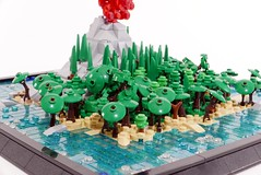 Krakatoa - the Lost Island (2 of 3) (Emil Lidé) Tags: lego moc krakatoa microscale island jungle