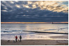 Ideal dog walk (malcbawn) Tags: lighthouse sand sunrise northsea clouds sea water ball sky outdoor dog dogwalker beach malcbawnphotography