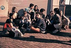 Vive la Révolution et la Résistance! (kirstiecat) Tags: revolution resistance youth young tcm paris france french montmartre people gathering fun laughter together friendship companion europe strangers beautifulstrangers street canon night shadows