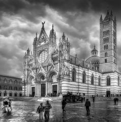 Duomo di Siena (VanderImages) Tags: italy church bw rain city duomodisiena skancheli