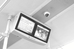 let me see your face (kadircelep) Tags: surveillance germany berlin ubahn subway underground metro screen camera security blackandwhite