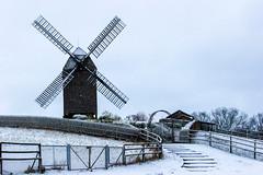 Windmill (JuliSonne) Tags: windmill windmühle bockwindmühle berlin marzahn winter ländlich flügel korn müller mehl schrotgang holz architektur