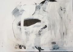 Was wenn der Ritter niemals käme (raumoberbayern) Tags: sketch painting abstract malerei robbbilder acryl acrylic black white schwarz weis