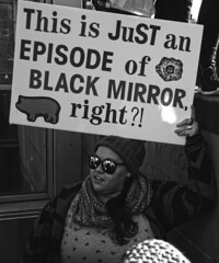 This is Just an Episode of Black Mirror, Right?! (tacosnachosburritos) Tags: woman girl lady chicks women ladies girls protest solidarity resistance resist donald trump president hair orange face pussy hat anger love hate fear unknown fascist fascism regime fight power beautiful take control grab disgusting disgust grope rapist vulgar embarrassment immigration refugees immigrants rights dignity thestreets street photography human race humanity critical mass nasty civilrights lgbqt march tweet twitter twit