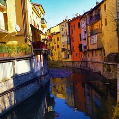 riflessi (ecordaphoto) Tags: italia italy porretta terme emiliaromagna photo d5100 dx nikon riflessi fiume river reflection