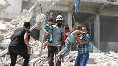 AFP_FN7T8 (nasermjd) Tags: horizontal middleeast civilwar revolt consequencesofwar civilianpopulation victim childinwar survivor airraid bombardment aleppo syria