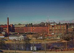 "Nashua, NH ""Cotton Mill"" (Kris_wl) Tags: historical building mill nashua nh cottonmill brick old windows river city landscape"