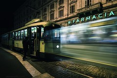 Svincolo Tempodirezionale (Roberto -) Tags: time tempo long exposure double doppia lunga esposizione tram roma rome fermata stop rail nikon d3200 tokina 1120