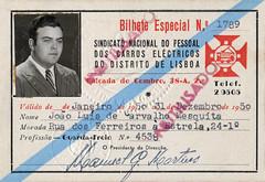 Sindicato Nacional do Pessoal da CCFL - cartão de identidade 1950 (© Portimagem) Tags: portugal patrimónionacional lisboa historia ccfl pessoal transportes transportespúblicos bilhetedeidentidade documentooficial identidade