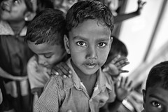 The Friend (alisdair jones) Tags: ef35mmf14lusm boy children portrait school uniform nainativu srilanka