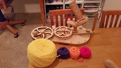 Yarn Lovers Package by Scott Wait and Family 5 (dorkyquilts) Tags: clock wooden gears woodworking kineticsculpture claytonboyer