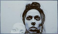 (emmakatka) Tags: portrait woman mannequin colors girl face self dark skull poetry alone head border creepy inverted technicolor invert emmakatka