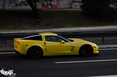 Chevrolet Corvette Z06. (Stefan Sobot) Tags: chevrolet car yellow race nikon muscle serbia fast exotic belgrade corvette luxury rare beograd supercar c6 z06 srbija hamma d7000