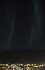 Northern_Lights_10_09_2015_IV (LyonelPerabo) Tags: city sky mountain black mountains green norway night norge town skies hill north hills arctic nighttime aurora citylights nordic polar scandinavia northern northernlights auroraborealis borealis tromso troms troms northnorway northernlight