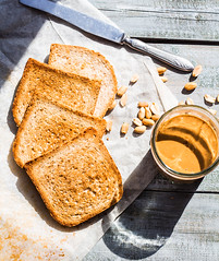 ruddy crispy toast with peanut butter for breakfast, bread (harmonyandtaste) Tags: wood school food brown white kids breakfast bread lunch spread wooden yummy healthy natural background board toast traditional smooth tasty sandwich fresh delicious eat butter american slice snack peanut sliced nut diet peanutbutter isolated protein baked creamy nutrition nutritious spreading
