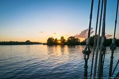 "Sunset aboard the tjalk ""De Egelantier"""