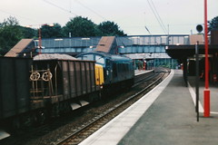19860730 013 Radlett. 45146 (D66) Heads A Ballast Train Up At 19.32 (15038) Tags: br diesel trains locomotive railways britishrail radlett d66 class45 45146