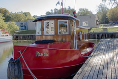 Rosebud (Photo's by Daniel Cohen) Tags: wood red ontario canada boat ship harbour rosebud restored hull picton princeedwardcounty pec dansdailyphoto