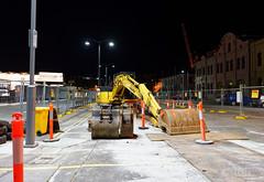 20151016-03-Building works waterfront (Roger T Wong) Tags: night construction australia tasmania hobart digger 2015 rogertwong sonya7ii sel28f20 sonyilce7m2 sonyalpha7ii sonyfe28mmf2