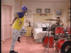 Dancing GIF - Find & Share on GIPHY (messiole) Tags: drums dancing air prince smith fresh will bel ifttt giphy