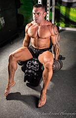 Stu Smith @ Fitness Base (JamesEverard Photography) Tags: red stu muscle smith bodybuilding fitness base pontefract