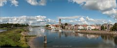 Deventer in panorama (Hans van Bockel) Tags: park city panorama photoshop river nikon raw nef natuur explore d200 brug stad deventer ijssel landschap wandeling uiterwaarden rivier worp dng bruggen binnenstad plantsoen 1024mm
