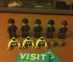 MRU haul! (tyfighter07) Tags: world winter two white dark soldier army us war force lego boots air nazi wwii helmet tan 101 ii german american r torso minifigs custom screaming airborne printed eagles troops thompson 101st worldwartwo aaf armyairforce darktan mru mp40 kar98 m1grand brickbuilder7