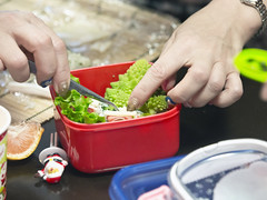 Making Christmas themed character bento at character bento classroom held by  (DigiPub) Tags: fun mother vegetable  making  japaneseculture    romanescocauliflower christmastheme     characterbento offlinemeetup ondemandofgettyimages  m20151219