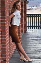 IMG_7634_Beautiful fashion girl just posing around.... (donaldbrainard1) Tags: girl beautiful smile face fashion female digital canon model pretty sam legs skirt 7d stunning heels lovely irresistible