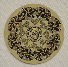 no257a (aaspforswestin) Tags: project pattern freehand zia renaissance micron 365project zentangle zendala gellypen tanglepattern zentangleproject whitecharcoalpen