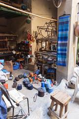 Textile Mill (Zlatko Unger) Tags: fez fes morocco fès medina tour el bali feselbali horse hair weaving loom machine