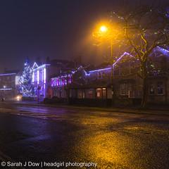 Melksham Town Hall-5674 (he4dgirl) Tags: christmas melksham sarahjdow wiltshire christmastree creativeportraitphotography dawn earlymorning headgirlphotographycom mistymorning night