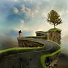 The way is done walking (jaci XIII) Tags: caminho estrada árvore andarilho pessoa surrealismo path road tree person walker surrealism