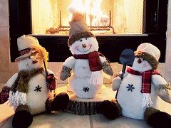 Day 8 of 365 My snowmen are warm and toasty #snowmen #project3652017 (alicehay2) Tags: snowmen project3652017
