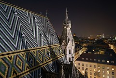 Stephansdome view at night (karinavera) Tags: travel sonya7r2 symbol night building architecture ceiling gothic vienna wien emblematicplace church cityscape longexposure view city stephansdome stephansplatz
