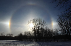 Catching the winter sun (ND Wind Twins) Tags: 117picturesin2017 117pictures73 sundog parhelia