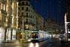 Tram 13 @ Bahnhofstrasse Zurich (Toni_V) Tags: m2402213 rangefinder digitalrangefinder messsucher leica leicam mp typ240 type240 50lux 50mmf14asph summiluxm bahnhofstrasse city coop tram vbz 13er reflections lucy weihnachtsbeleuchtung christmas zurich zürich schweiz switzerland suisse svizzera svizra europe night nacht sundaymorningphototour ©toniv 2016 161127 iso1000