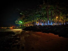 The Final Night (Stuck in Customs) Tags: hasselblad krabi stuckincustoms thailand treyratcliff trey ratcliff dailyphoto rr horizontal hdr hdrphotography hdrphoto night dark ritzcarlton phulaybay bbq beach family 30days2016 glow lights dinner table chef special blue green white orange black trees outdoor outdoors outside colour color h5d december 2015 p2016