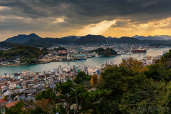 Onomichi @ Inland sea (Marcel Tuit | www.marceltuit.nl) Tags: 2016 6d asia azië canon canon6d eos holland honshu japan landscape landschap me marceltuit nederland november onomichi tempelwandeling thenetherlands vakantie autumn backpacking berg clouds coastaltown contactmarceltuitnl eiland fall fareast herfst hiking holiday industrialcomplex industrie industry island japaninlandsea japansezee kustplaats mountain pagoda pagode religie religion sunrays tempel temple templewalk trail travel verreoosten visitingoldtemples wandelen water wolken wwwmarceltuitnl zonnestralen