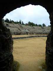 Amphitheatre at Italica, Santiponce, Seville - fou (Kevin J. Norman) Tags: spain andalusia seville italica hadrian trajan roman