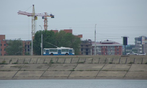 Irkutsk trolleybus VMZ-5298.00,  Angara dam ©  trolleway