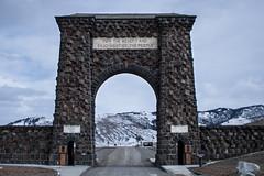 Happy 145th Birthday! Roosevelt Arch. Yellowstone N.P., Mont. (Mar. 1, 2017) (Thomas Cluderay) Tags: montana outdoors nationalpark yellowstone yellowstonenationalpark happybirthday rooseveltarch roosevelt publiclands nps arch landmark photography gateway mountains gardiner