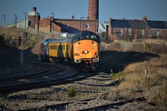 37604 + 37608 at Ryhope Grange (RAILWAYS ROUNDUP UK) Tags: 37608 37604 class37 direct rail services drs europhoenix ryhope grange colas network test train mk2 ee english electric