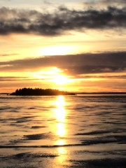Light path (STTH64) Tags: ice reflection cold winter sea seaside sun sunset island path trees water serene sky clouds