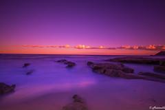 Plage de l'Escalet (Ramatuelle / French Riviera) (Matiou83) Tags: beach landscape colors purple nature sky longexposure canoneos70d canon sea saturation sunset clouds