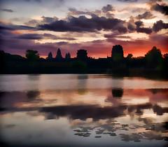 Ankor Wat sunrise Impression (Neville Wootton Photography) Tags: ankorarchaeologicalpark ankorwat cambodia holidays impressions lakescapes mangojouneys sunrises topazlabs