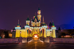 Hong Kong's Castle (Jared Beaney) Tags: hongkongdisneyland hongkong hongkongdisneyresort hongkongphotography canon6d canon castle disney disneythemeparks themeparks nightphotography nightlandscapes sleepingbeautycastle