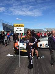 Jason Plato's car on the BTCC grid at Rockingham, September 2015 (MarkHaggan) Tags: jasonplato plato grid gridgirls btcc btcc2015 rockingham rockinghammotorspeedway motorracing motorsport circuit track 2015